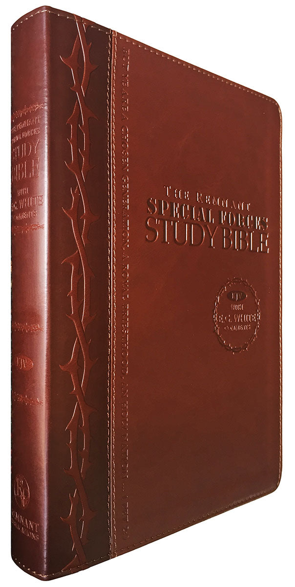 Bible: Remnant Study Bible, KJV - Special Forces, Leathersoft Brown