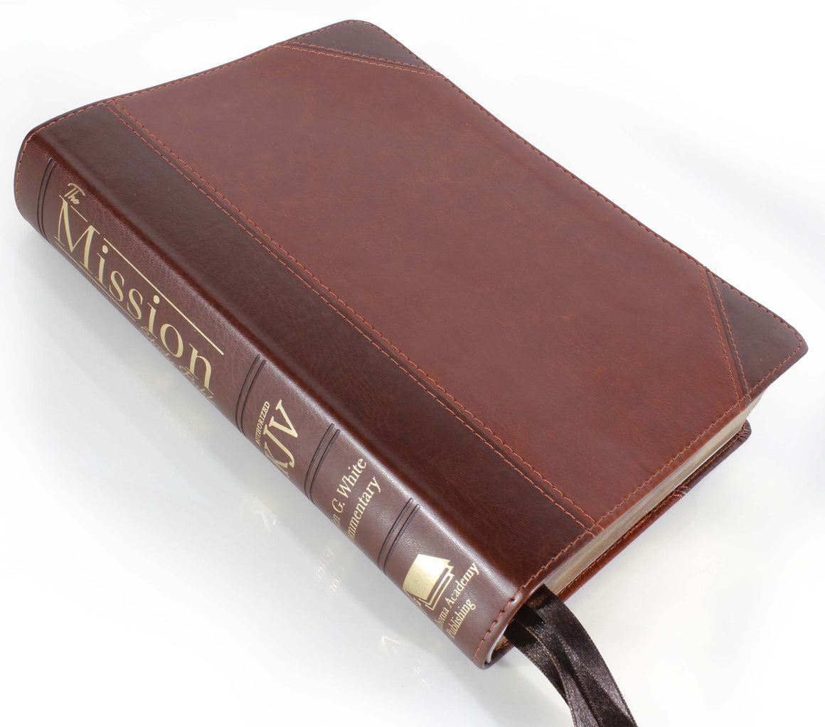 Bible: KJV, Mission Study Bible with EGW Comments, Chestnut