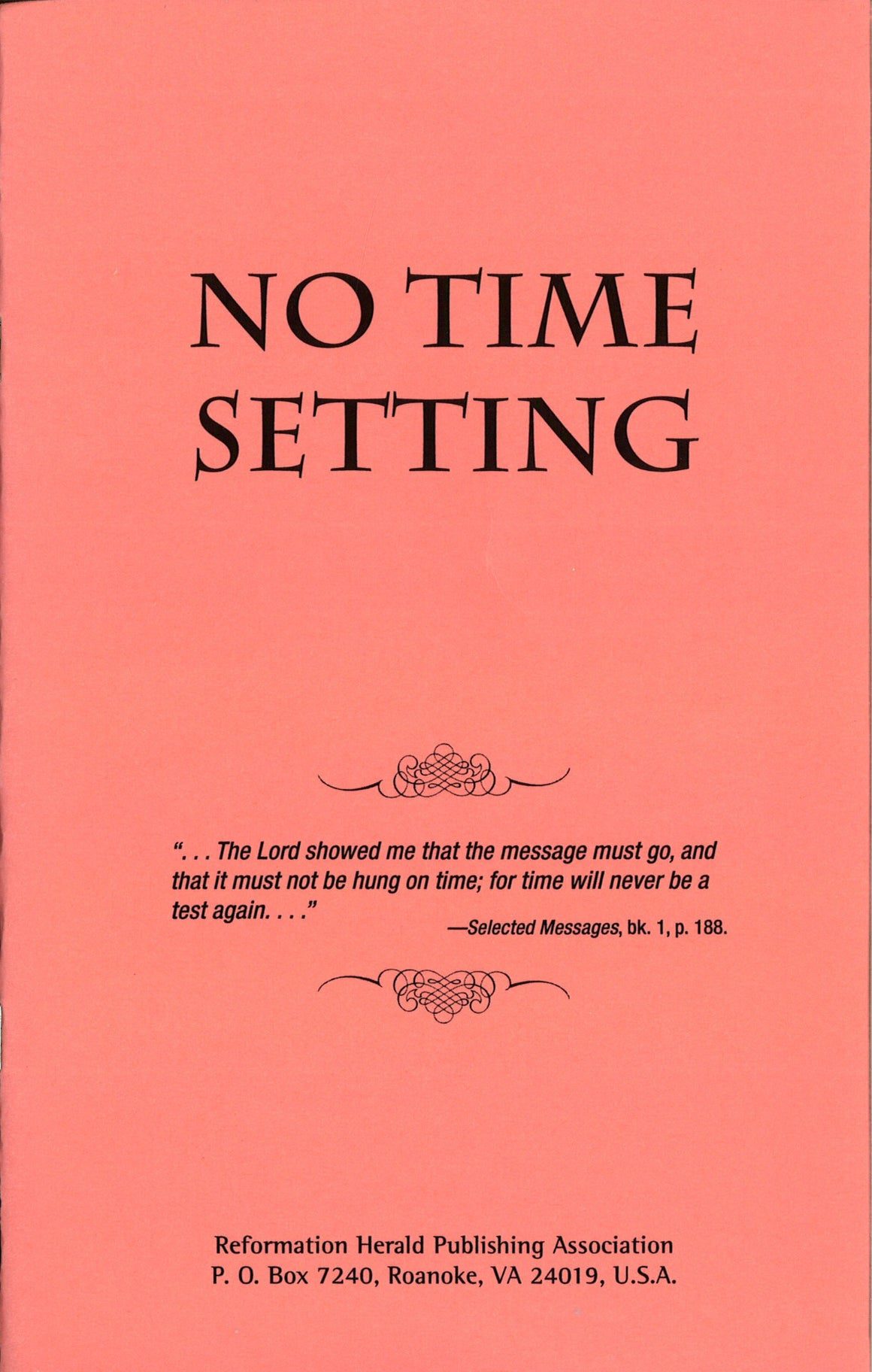 No Time Setting