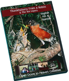 C1 - Thankfulness from a Robin & The Ten Lepers, DVD. New Multi-Lingual Version
