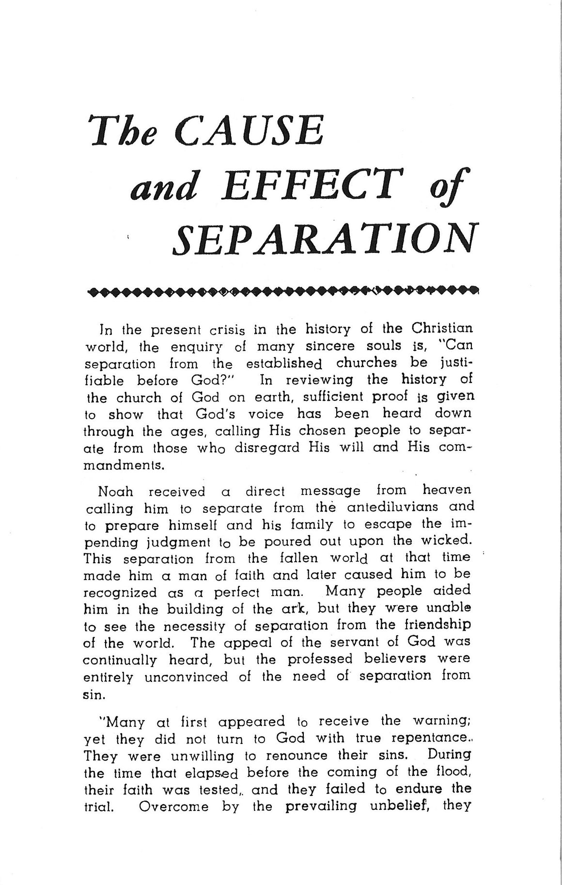 Cause and Effect of Separation, by D. Nicolici