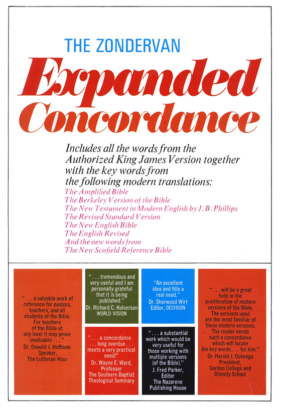 Zondervan Expanded Concordance