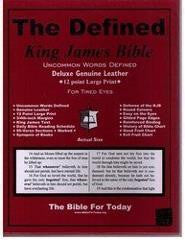 Bible: KJV, Defined, Deluxe Genuine Leather, Burgundy, Indexed