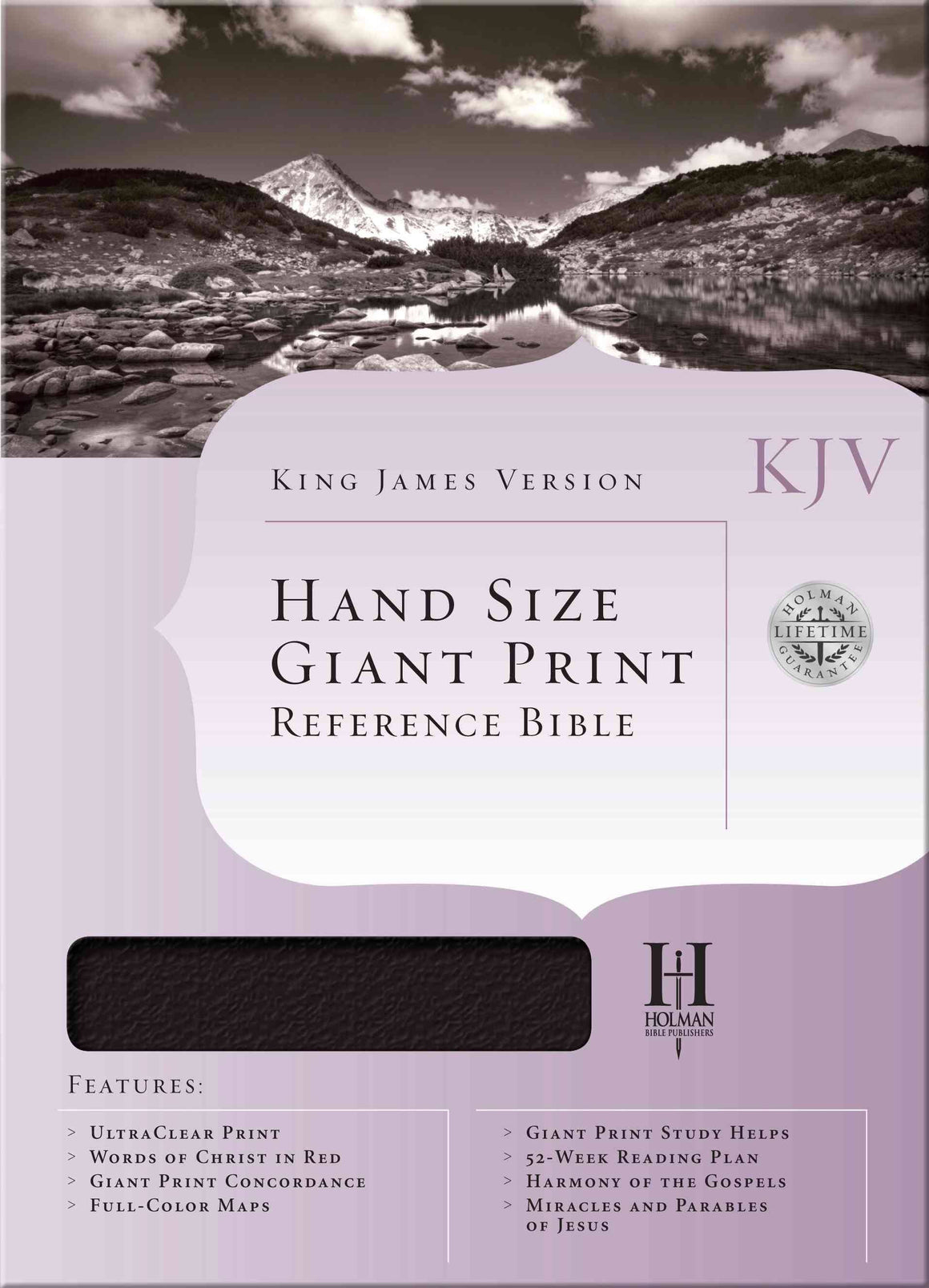 Bible: KJV, Holman, Hand Size, Giant Print, Leather Imitation, Brown/Tan