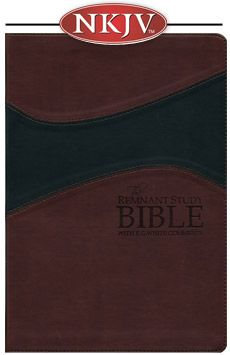 Remnant Study Bible NKJV - Leather-soft Burgundy/Black