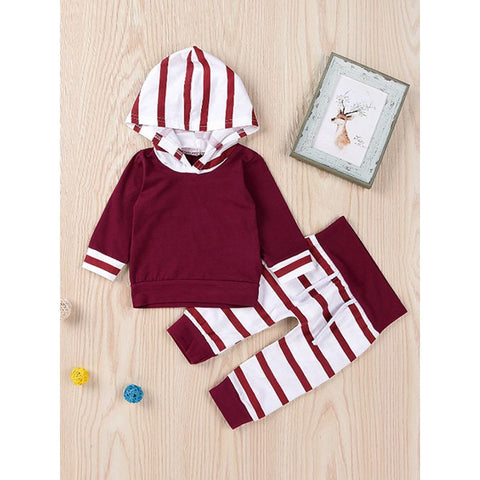 2 Piece Red Stripe Set