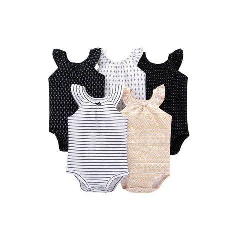 Baby Girl Printed Onesies- 5 Colors