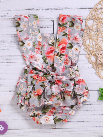 Open Back Floral Onesie -Coming Soon