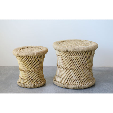 Bamboo Side Tables Set of 2-Ship