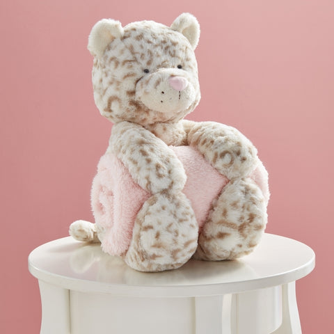 Mud Pie Leopard Plush with Throw