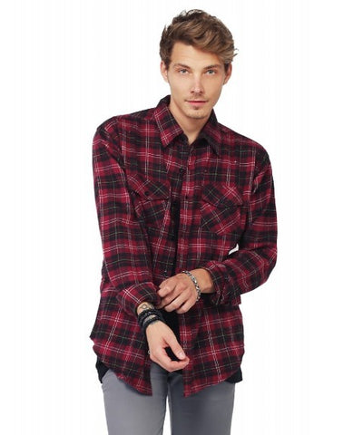 Men's Burgundy Flannel