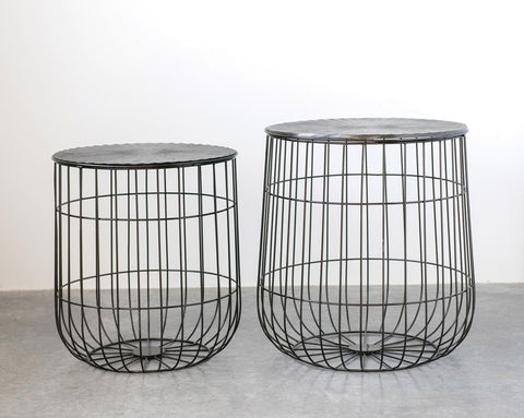 Accent Tables with Storage- Set of 2