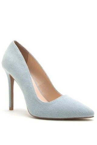Zoey Pale Blue Pump