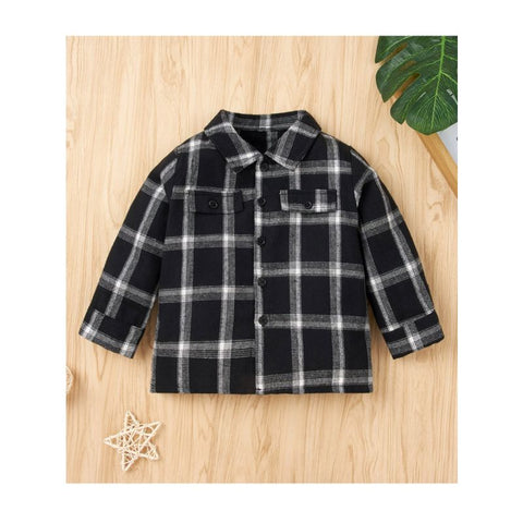 Toddler Plaid Button Up