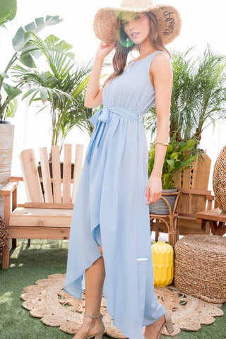 Baby Blue Hi-Low Maxi
