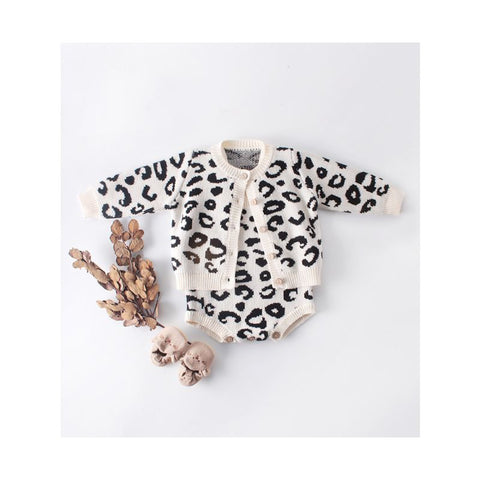Baby Leopard Printed Cardigan