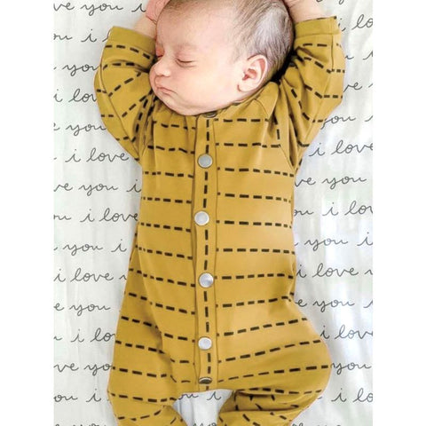 Baby Striped Yellow Jumpsuit