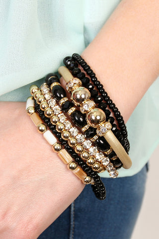Beaded Stackable Bracelets-4 Colors
