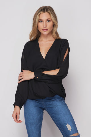 Sally Slit Blouse