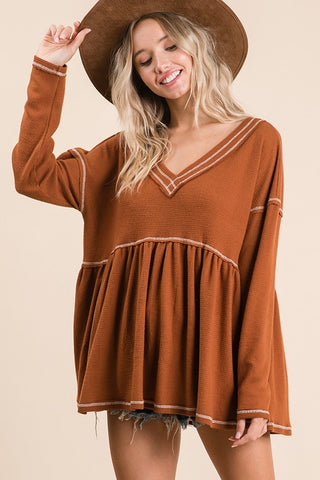 Falling for Babydoll Tunic
