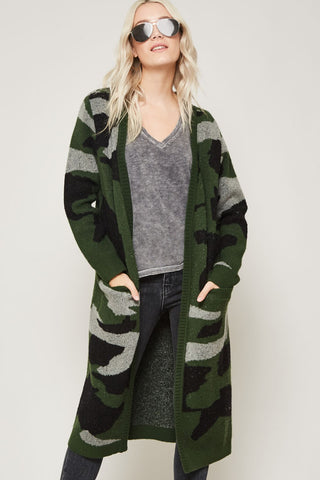 Cozy in Camo Cardigan
