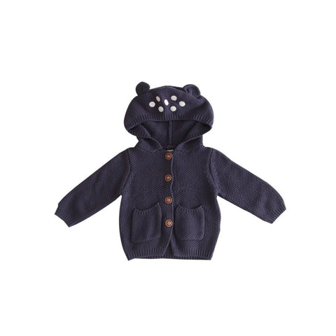 Fall Baby Ear Hooded Cardigan
