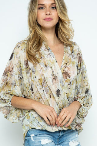 Fall Puff Sleeve Blouse