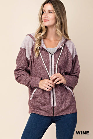 Terry Hooded Cardigan- 1 Left