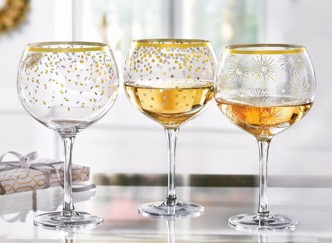 Gold Wine Glasses-3 Styles