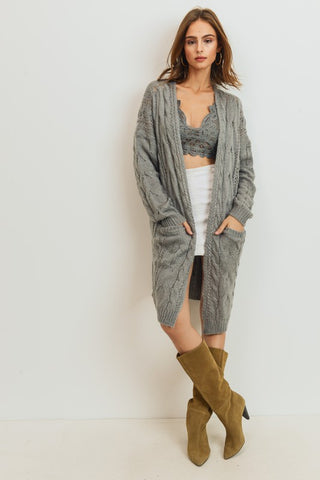Knit Cable Cardigan