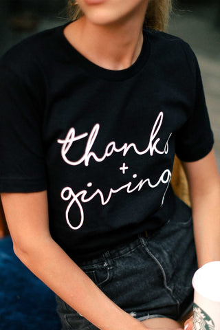 Thanks + Giving Graphic T Shirt