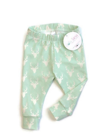 Mint Deer Leggings