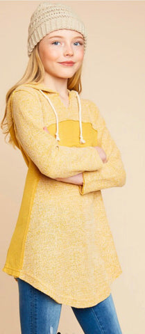 Juniors Mustard Sweater Tunic