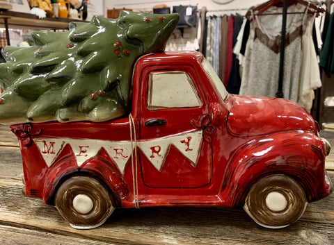 Mud Pie Farmhouse Truck Cookie Jar