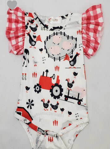 Barnyard Bubble Romper