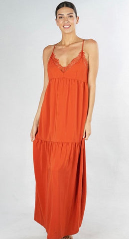 Capri Tiered Maxi Slip Dress