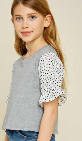 French Terry Star Blouse