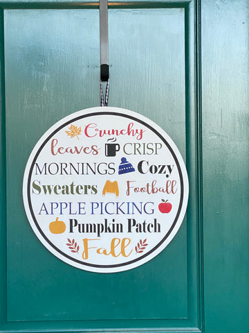 Fall Door Hanger Take Home Kits