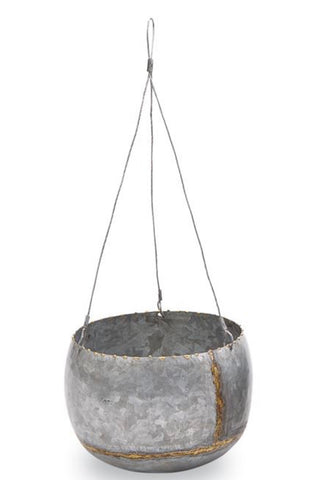 Small Hanging Tin Planter