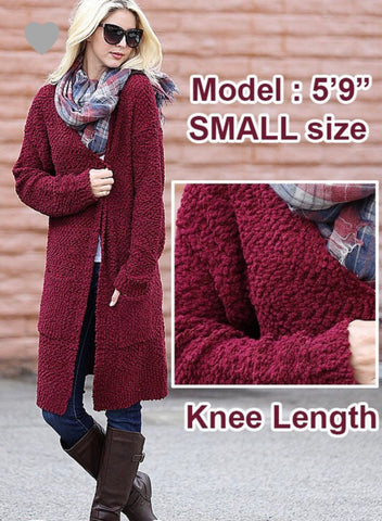 Cozy Burgundy Cardigan