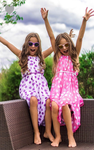 Toddler/ Juniors -Purple & White Dress