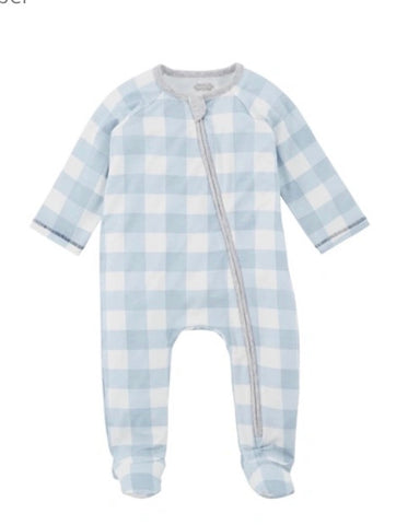 Baby Blue Gingham Sleeper