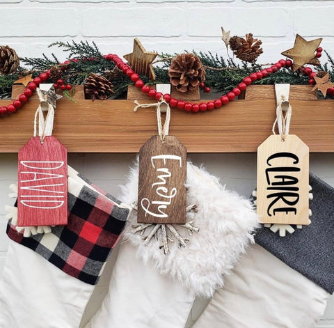 Custom Stocking or Gift Name Tags