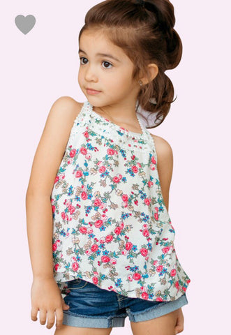 Toddler Floral Crochet Tank