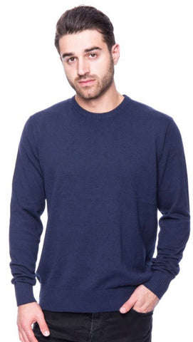 Men's Navy Crewneck Sweater