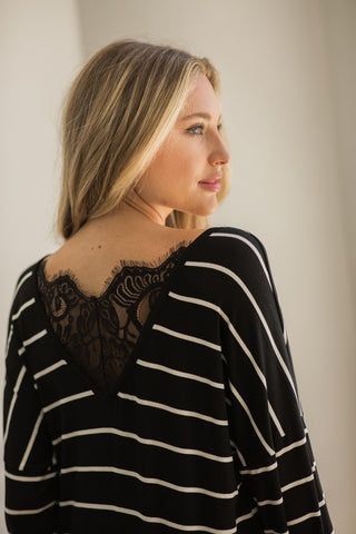 Lace Striped Tunic