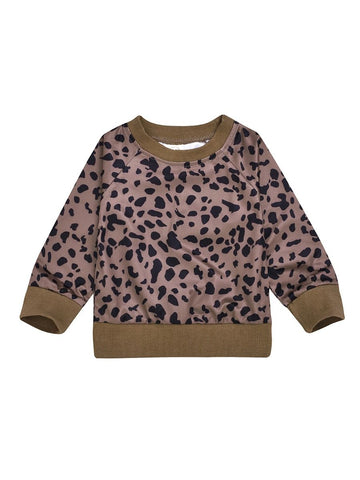 Fall Baby Leopard Pullover
