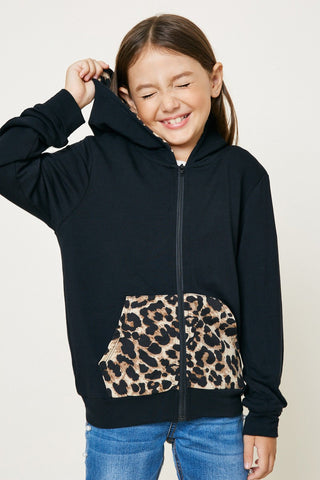 Leopard Print Zip-Juniors
