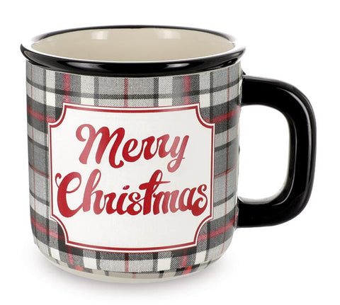 Merry Christmas Plaid Mug