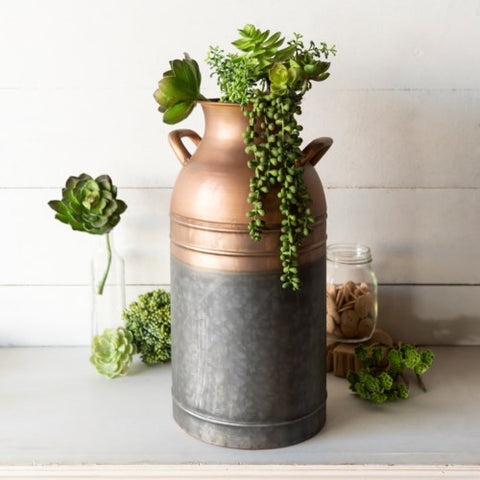 Copper & Galvanized Metal Canisters